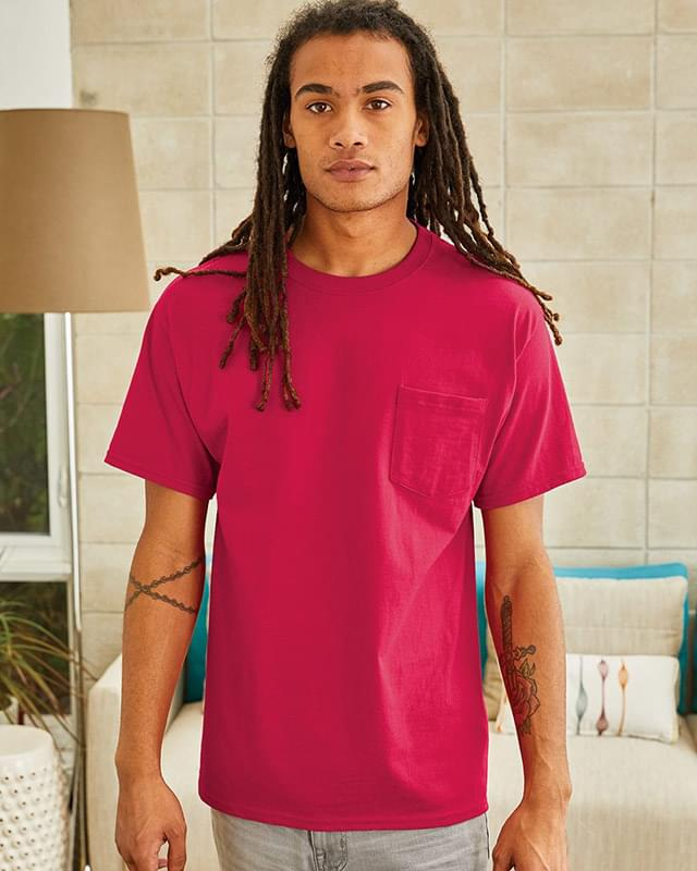 Tagless T-Shirt with a Pocket