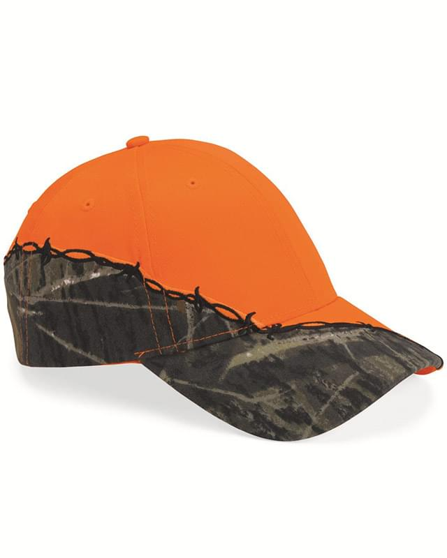 Licensed Camo Cap with Barbed Wire Embroidery
