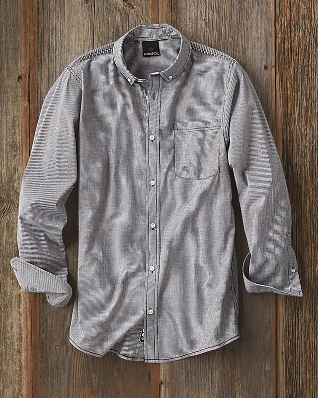Stretch Stripe Long Sleeve Shirt