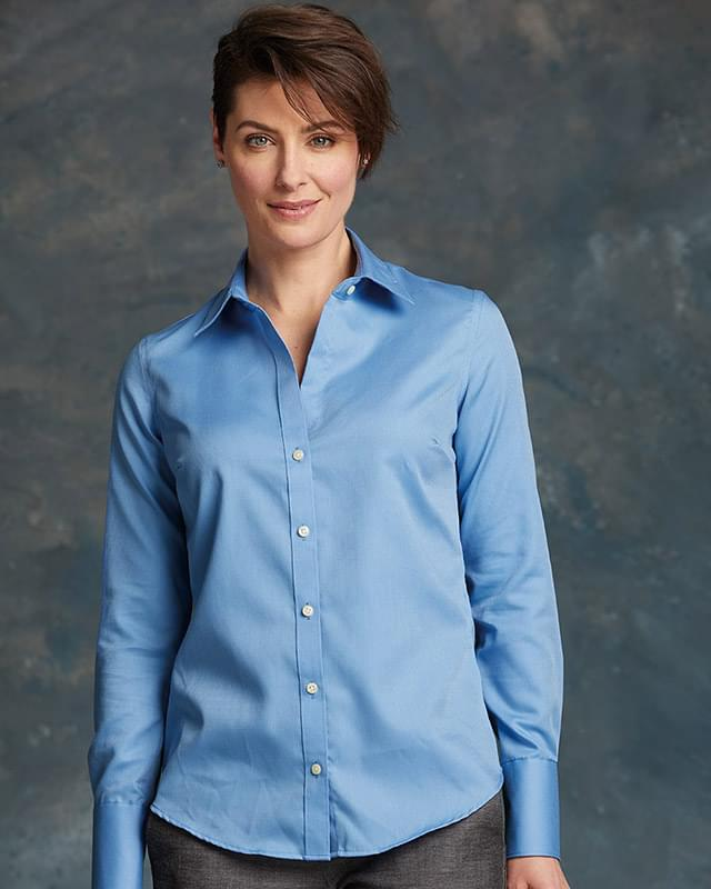 Women's Non-Iron Dobby Pindot Shirt