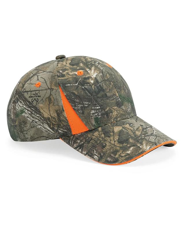 Camo Cap With Hi-Vis Trim