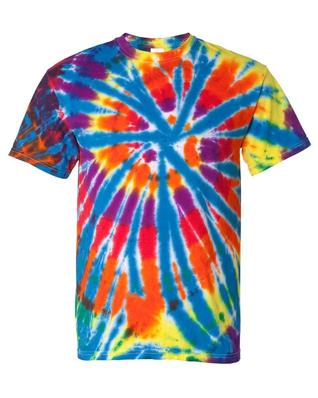 Short Sleeve Rainbow Cut-Spiral T-Shirt