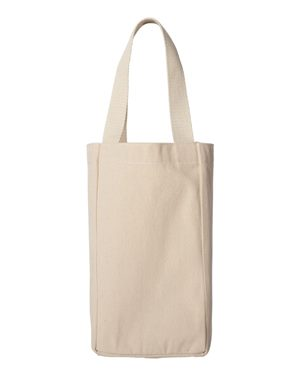 10 Ounce Cotton Canvas Double Bottle Wine Tote