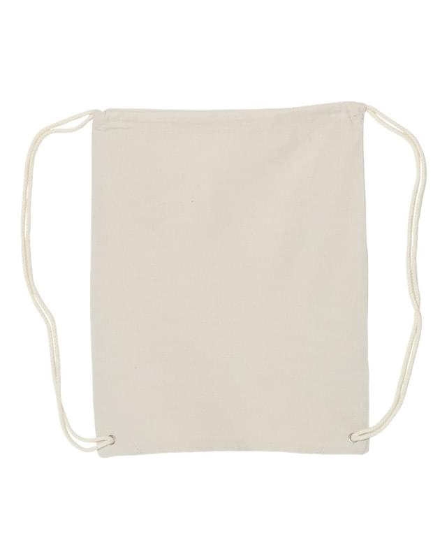 10 Ounce Cotton Canvas Drawstring Backpack