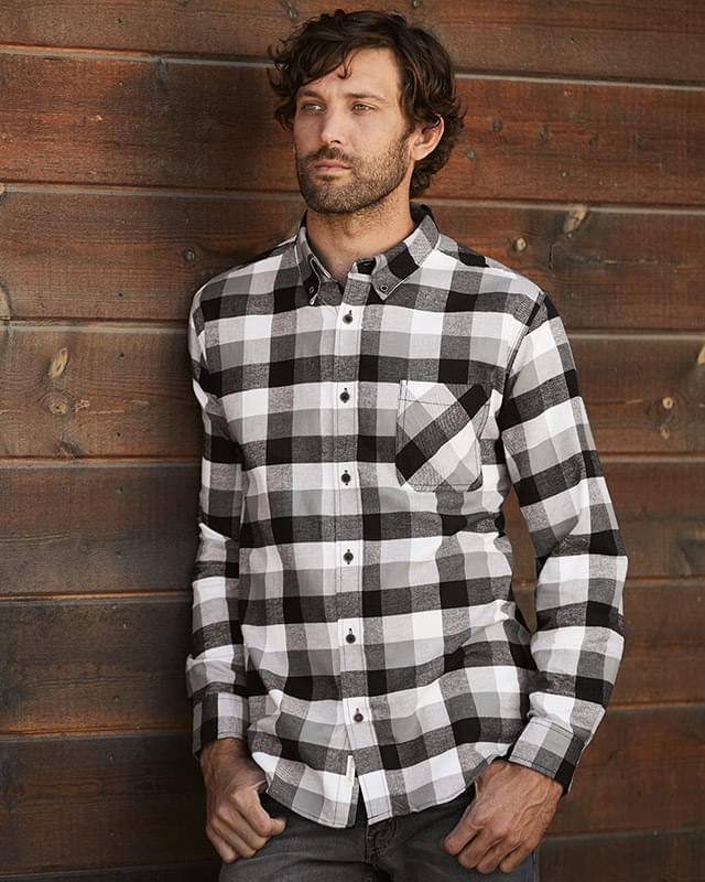 Vintage Brushed Flannel Long Sleeve Shirt