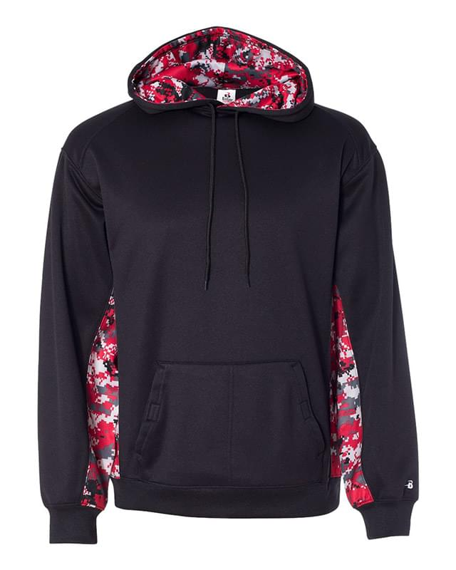 Digital Camo Colorblock Performance Fleece Hooded Sweatshirt