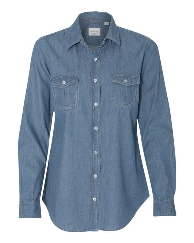 Vintage Women's Denim Long Sleeve Shirt