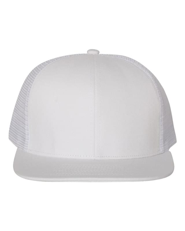 Flat Bill Six-Panel Trucker Cap
