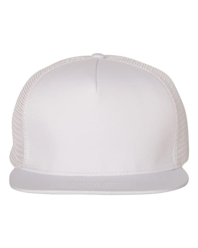 Flat Bill Five-Panel Trucker Cap