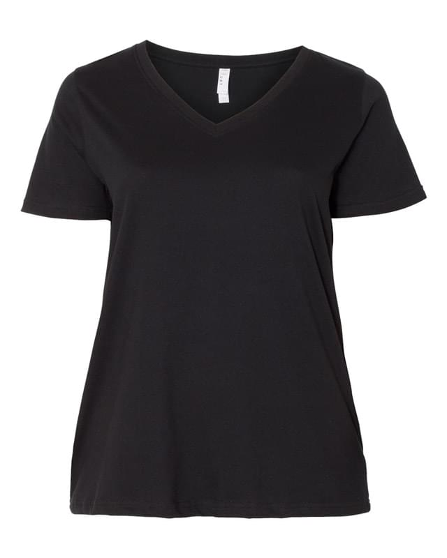 Curvy Collection Women's V-Neck Tee