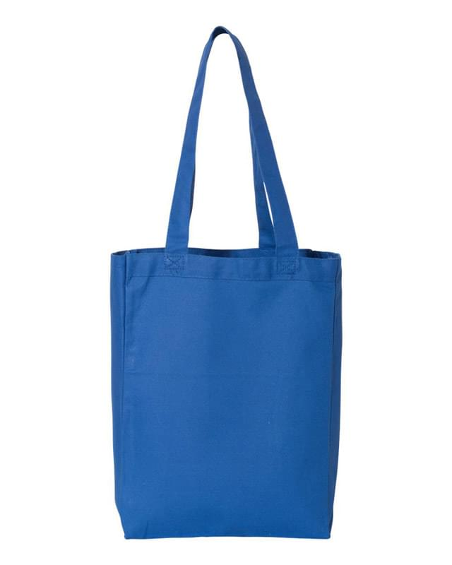 12L Canvas Gusset Shopping Tote