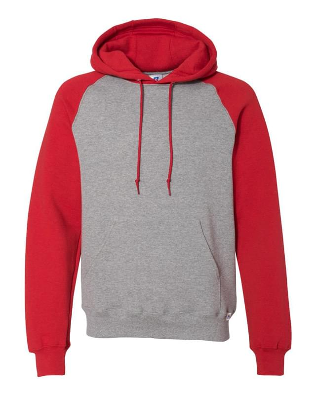 Dri Power® Colorblock Raglan Hooded Pullover Sweatshirt