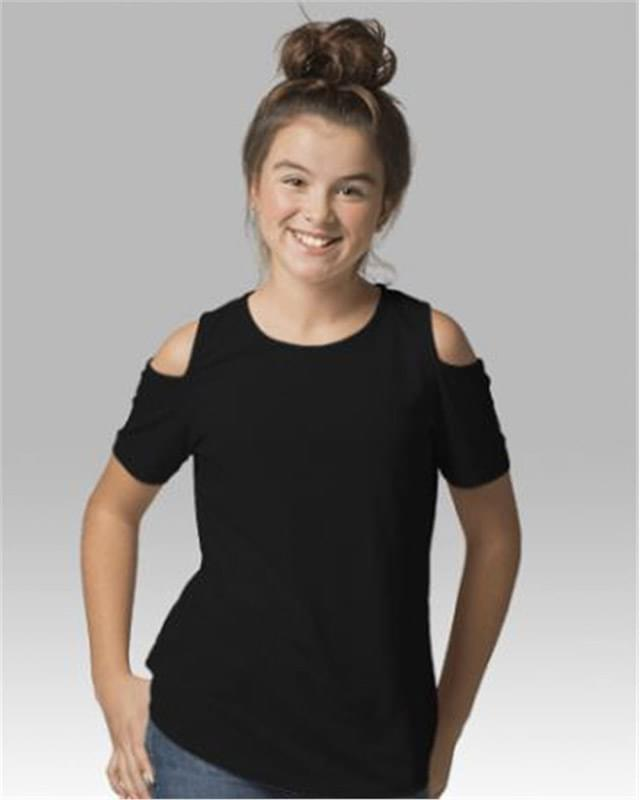 Girls Cold Shoulder T-Shirt