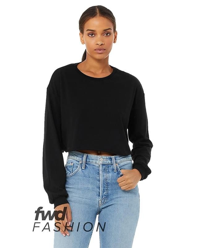 Fast Fashion Women's Cropped Long Sleeve Tee