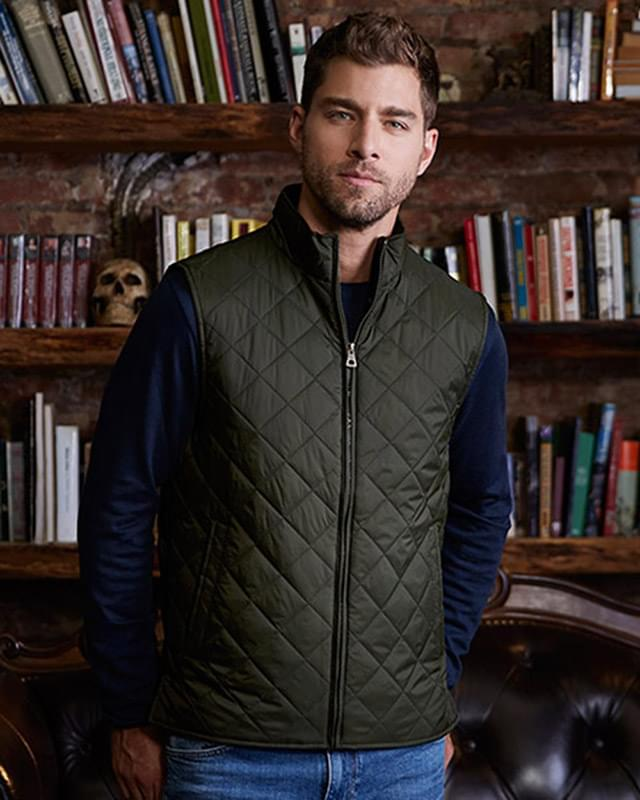 Vintage Diamond Quilted Vest