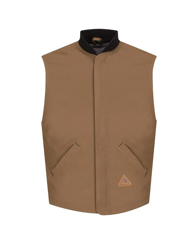 Brown Duck Vest Jacket Liner - EXCEL FR® ComforTouch® - Long Sizes