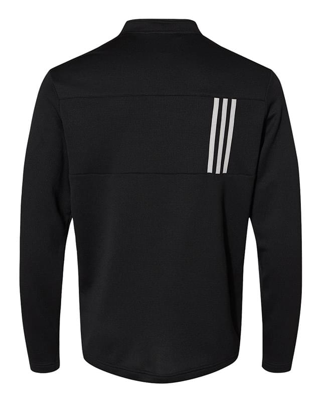 3-Stripes Double Knit Quarter-Zip Pullover
