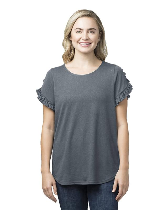 Women's Ruffle Sleeve T-Shirt