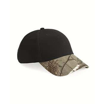Solid Crown Camouflage Cap
