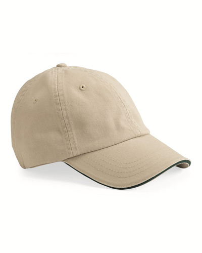 USA-Made Unstructured Twill Cap with Sandwich Visor