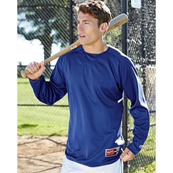 Long Sleeve Flatback Mesh Fleece Pullover