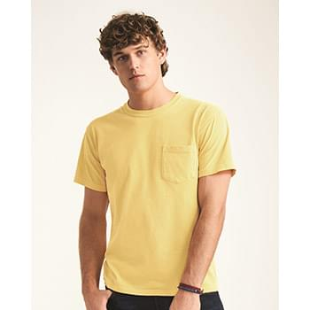 Garment Dyed Heavyweight Ringspun Short Sleeve Shirt with a Pocket