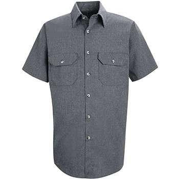 Heathered Poplin Uniform Shirt