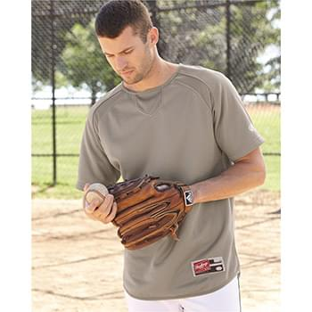 Short Sleeve Flatback Mesh Fleece Pullover
