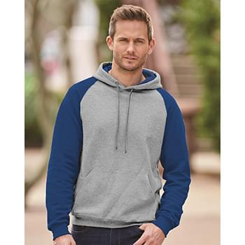 Nublend Colorblocked Raglan Hooded Sweatshirt