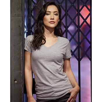 Women's Lightweight Ringspun V-Neck T-Shirt