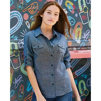 Women's Long Sleeve Chambray