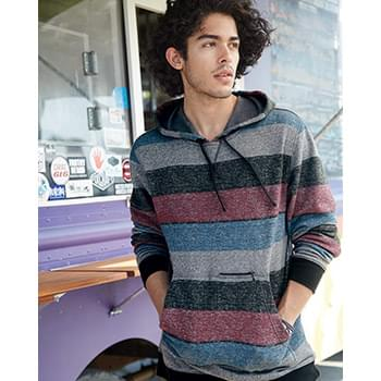 Printed Stripes Fleece Sweatshirt