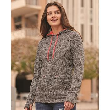 Women's Cosmic Fleece Contrast Hooded Pullover Sweatshirt