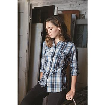 Vintage Women's Plaid Long Sleeve Shirt