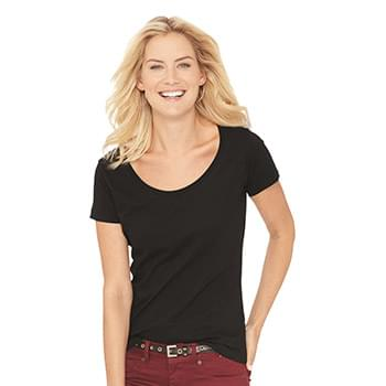 Women's Scoop Neck Fine Jersey Tee