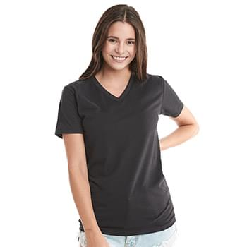 Premium Fitted Sueded V-Neck T-Shirt