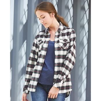 Women's Yarn-Dyed Long Sleeve Flannel Shirt