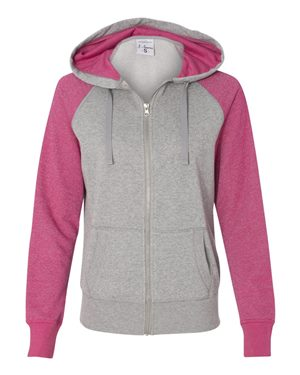 Women's Glitter French Terry Hooded Full-Zip Sweatshirt