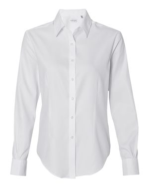 Women's Long Sleeve Pique Dress Shirt