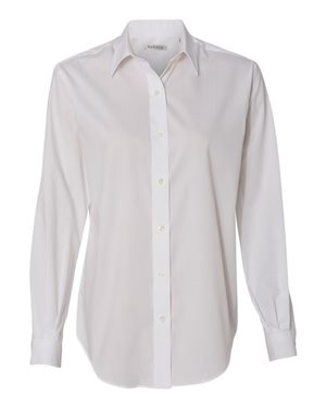 Women's Long Sleeve Resin Finish Oxford Shirt