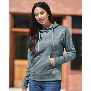 Women's Odyssey Striped Performance Fleece Lapover Hooded Sweatshirt