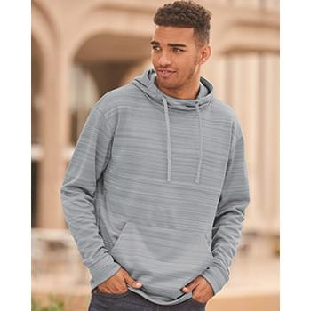 Odyssey Striped Performance Fleece Hooded Pullover Sweatshirt