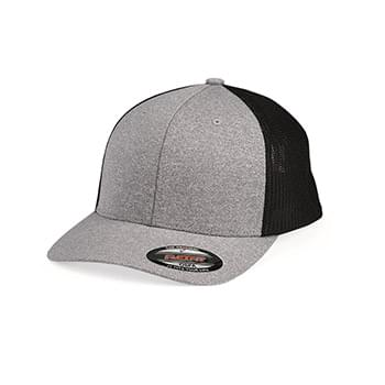 Melange Trucker Cap With Mesh Back