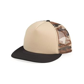 Foam Front Flat Bill Trucker Cap