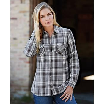 Vintage Women's Burnout Flannel Shirt