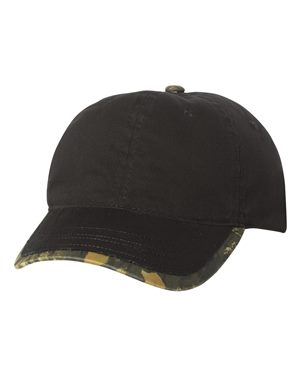 Frayed Trim Camo Cap