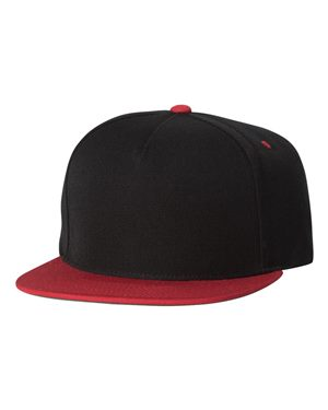 Five-Panel Wool Blend Snapback Cap