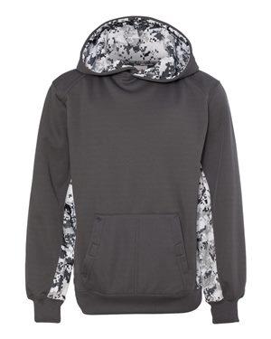 Digital Camo Youth Colorblock Performance Fleece Hooded Sweatshirt