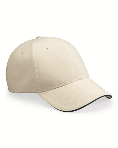 USA-Made Structured Twill Cap with Sandwich Visor