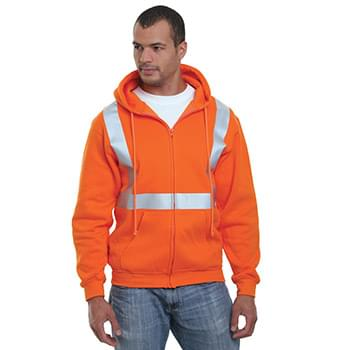 USA-Made Hi-Visibility Full-Zip Hooded Fleece